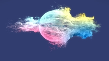 تصویر از Colorful Particles Logo Reveal